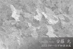 安藤光 ドローイング緻密画展2015
